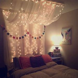 25+ best ideas about Bed canopy lights on Pinterest Teen