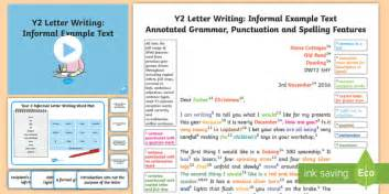 le tter writing informal modelexample text