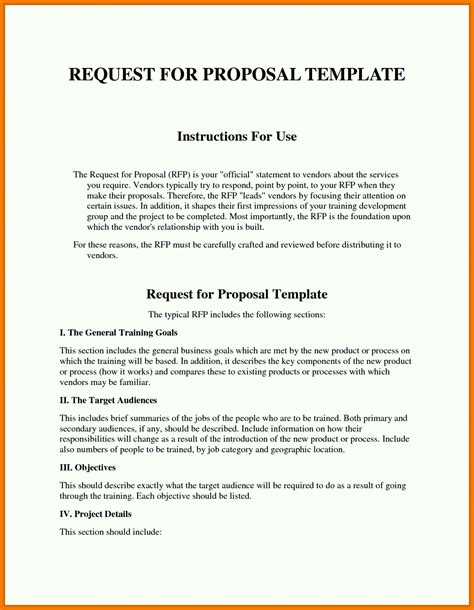 rfp requirements template sle rfp response template information technology exle