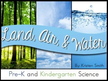 land air  water  preschool  kindergarten science