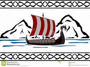 Stencil Of Viking Ship Stock Photos - Image: 32569933