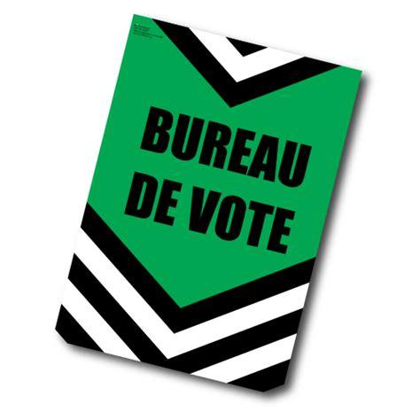 bureau de vote 15 bureau de vote affiche