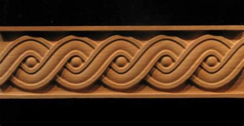 frieze running coin weave decorative carved wood molding