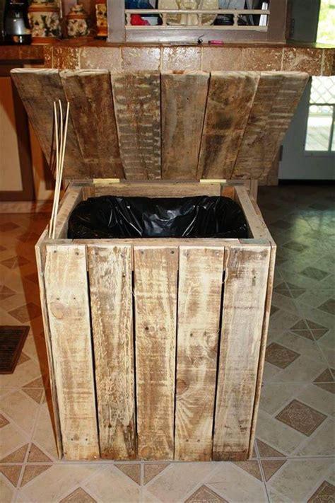 diy wood pallet trash bin  pallets