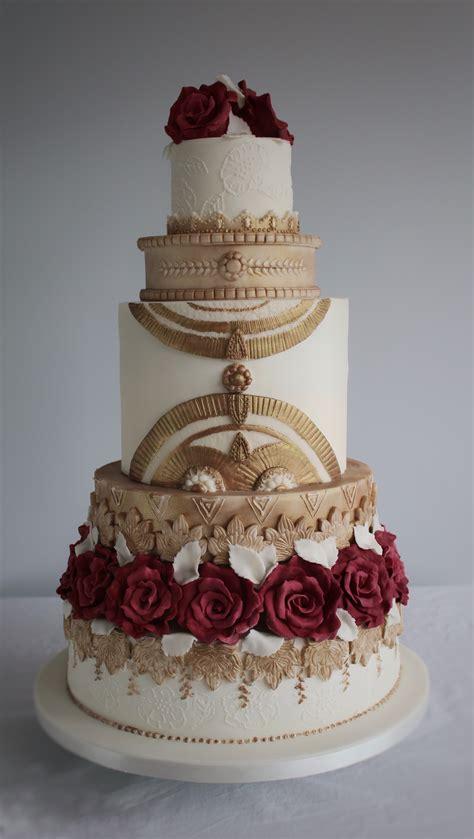divine metallic wedding cake designs la belle cake company