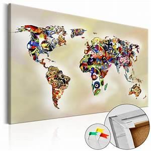 Pinnwand Weltkarte Kork : neuheit leinwandbilder kork pinnwand weltkarte 12 varianten k a 0069 p a ebay ~ Markanthonyermac.com Haus und Dekorationen