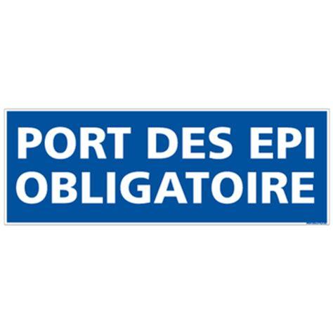 panneau port des epi obligatoire e0142