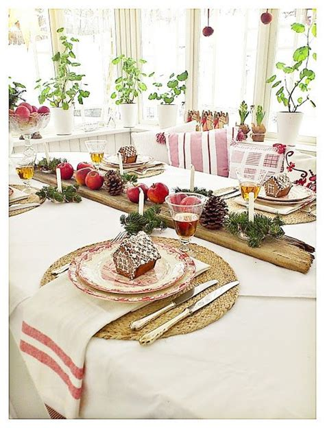 wonderful swedish christmas table setting beautiful