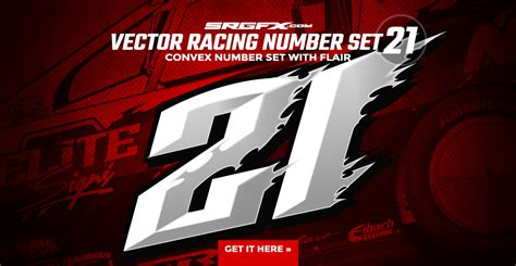 Kaos One One Graphic 5 vector racing number set 21 school of racing graphics