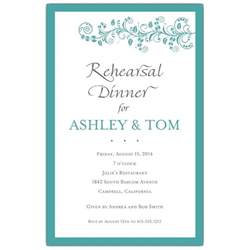wedding invitation stationery vine turquoise rehearsal dinner invitations paperstyle