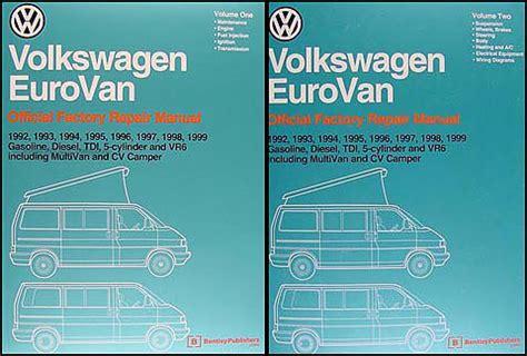 free car repair manuals 1995 volkswagen eurovan free book repair manuals 1951 2012 vw cer conversions and interiors guide