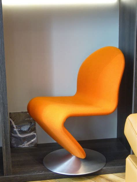 chaises panton chaise panton tissu kvadrat tonus orange seanroyale