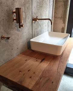 Waschtisch Mit Holzplatte : die besten 25 waschtischkonsole holz ideen auf pinterest ~ Lizthompson.info Haus und Dekorationen