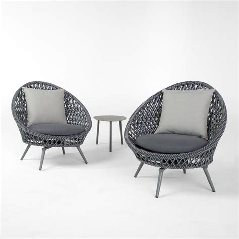 rst brands bloom 3 patio conversation set with grey