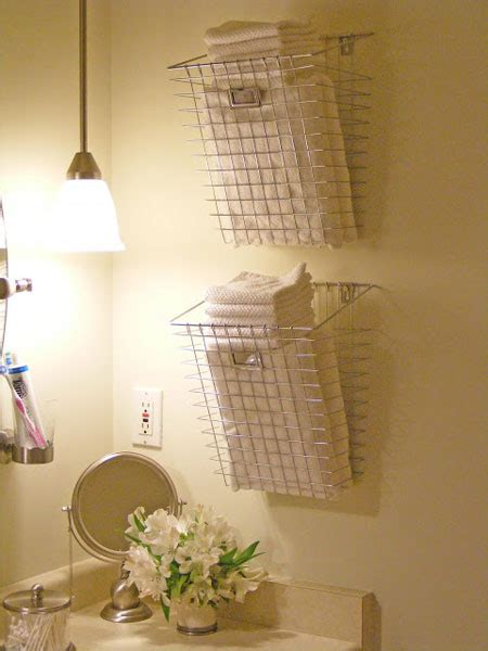 bathroom basket ideas bathroom towel storage 12 creative inexpensive ideas