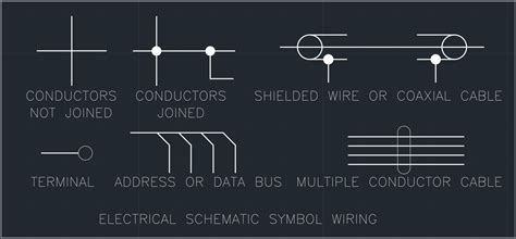 electrical schematic symbol wiring autocad free cad
