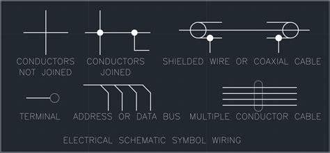Electrical Schematic Symbol Wiring Cad Block