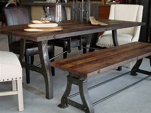 Industrial reclaimed wood dining table - Industrial