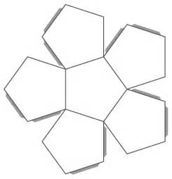 Dodecahedron Pattern Template