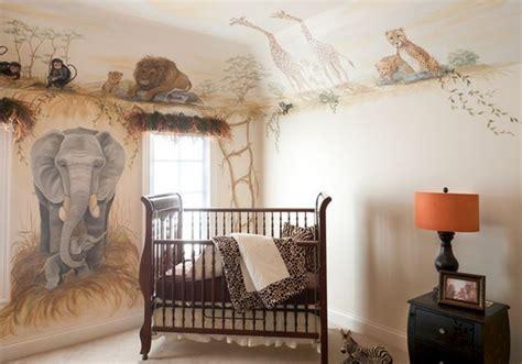 chambre bébé jungle décoration chambre bébé safari deco maison moderne
