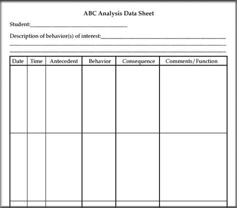 Abc Behaviour Chart Template by Antecedent Behavior Gulke