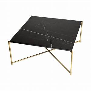 buy black marble square coffee table brass base at With dark marble coffee table