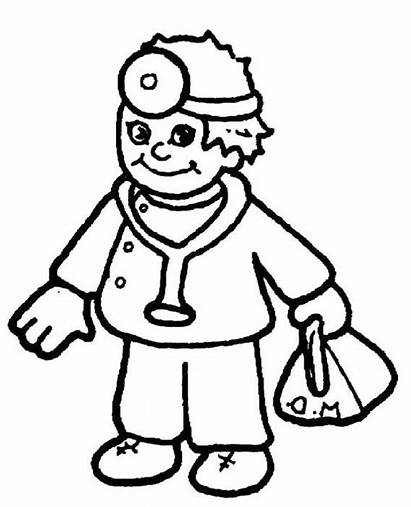 Doctor Coloring Equipment Pages Colouring Doctors Bag