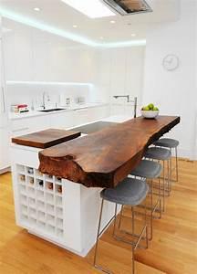 Cuisine En Bois Brut : les meubles en bois brut sont une jolie touche nature pour l 39 int rieur ~ Teatrodelosmanantiales.com Idées de Décoration
