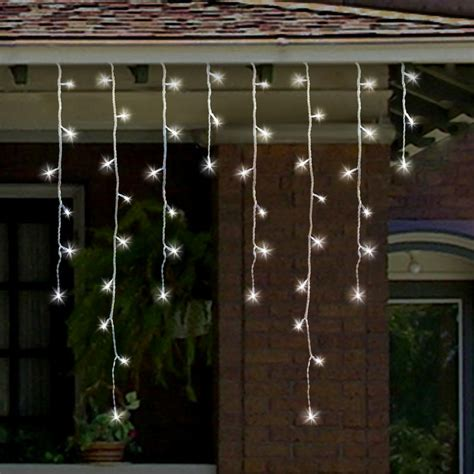 360 bright white led icicle snowing effect christmas light