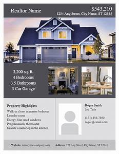 real estate flyer template for word With property flyer template free