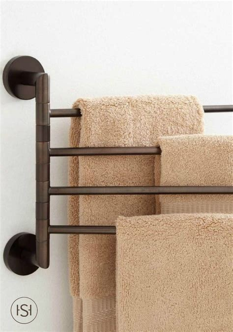 Towel Rack Ideas For Small Bathrooms by 1000 Ideas About Bathroom Towel Racks On
