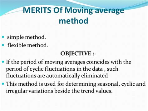 Moving Average Method Maths Ppt