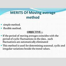 Moving Average Method Maths Ppt