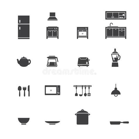 icon kitchen design kitchen icon set stock vector image of ls icon 1762