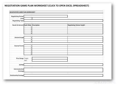 negotiation prep guide worksheet