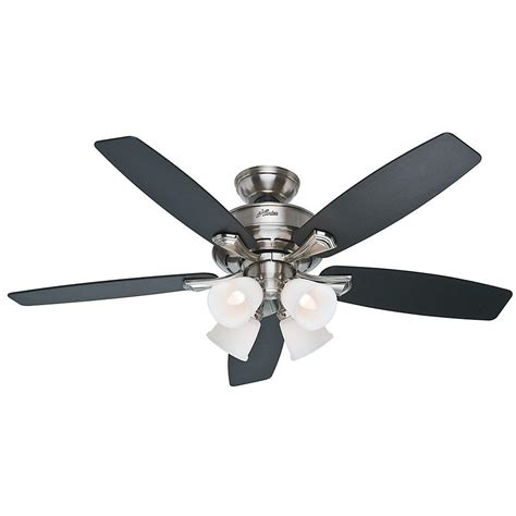 home depot ceiling fans without lights hunter reinert 52 in indoor low profile white ceiling fan