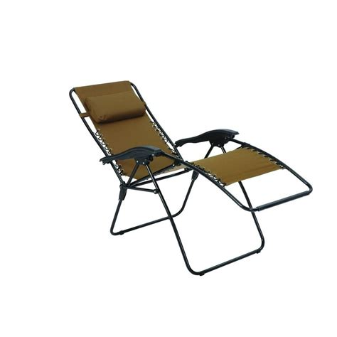 decathlon chaise cing zero gravity patio lounger chaise fc630 68015 the home depot