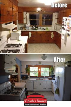 redone knotty pine kitchen painted cabinets  pretty
