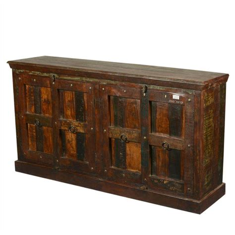 Rustic Sideboard Buffet by 72 Quot Large Rustic Reclaimed Wood Furniture Sideboard Buffet