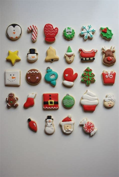 decorated cutout cookie ideas images  pinterest