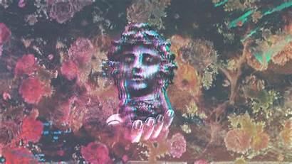 Vaporwave Statue Retro Caesar Julius Painting Desktop