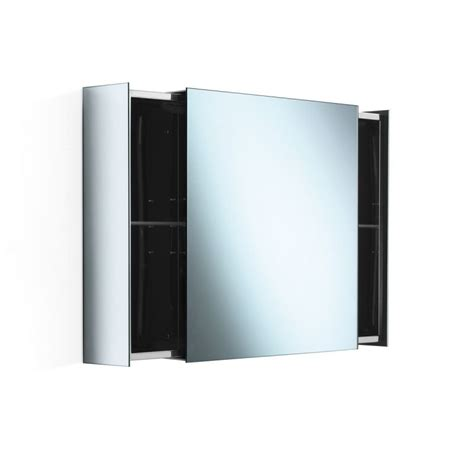 sliding glass door medicine cabinet ws bath collections pika 51513 29 stainless steel 24
