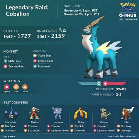 cobalion raid counters guide pokemon  hub