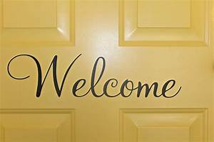 Carolina, On, My, Mind, Garage, Entrance, Welcome, Decal, On, Painted, Yellow, Door