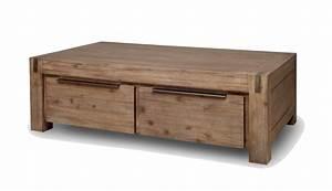 Table Basse Avec Tiroir : table basse 4 tiroirs hamburg ~ Teatrodelosmanantiales.com Idées de Décoration