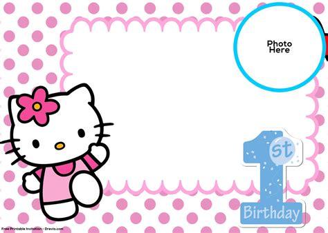 kitty st birthday invitation template