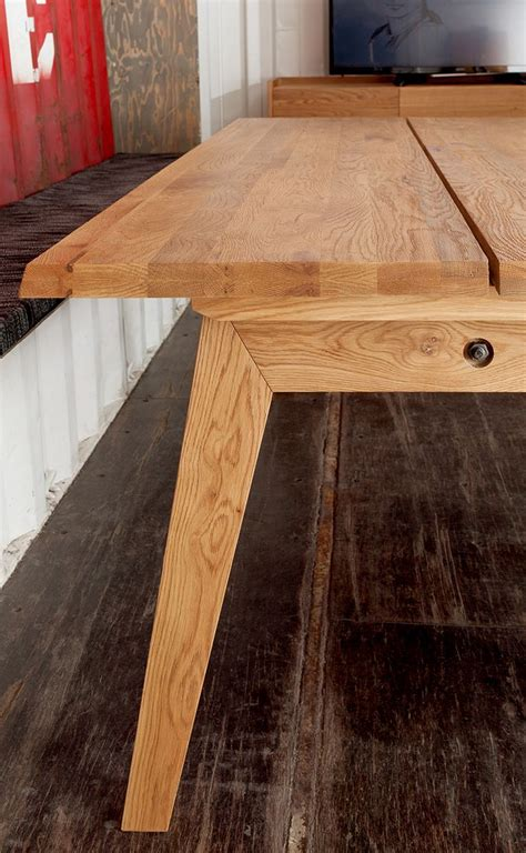 rectangular dining table  rustic wood article madera