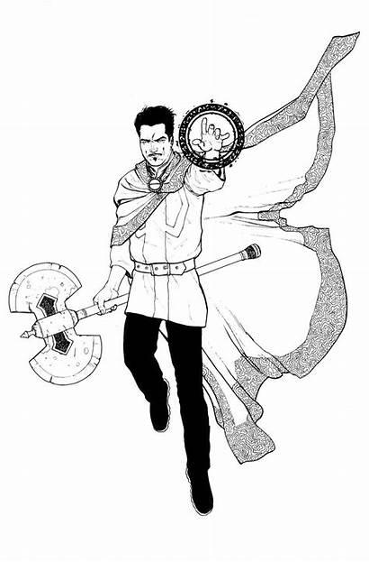 Strange Doctor Coloring Dr Marvel Magic Pages