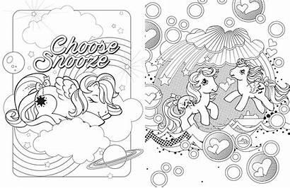 Pony Coloring Retro Fun Books Printable Editors