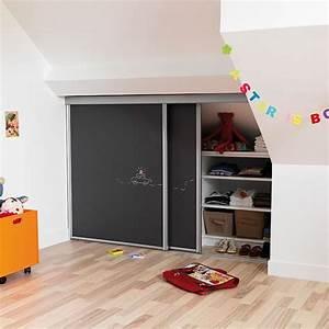 Placards Sous Pente : choisir une porte coulissante de placard sous pente ~ Melissatoandfro.com Idées de Décoration